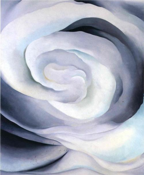 Georgia O'Keefe - White rose (wikiart.org)