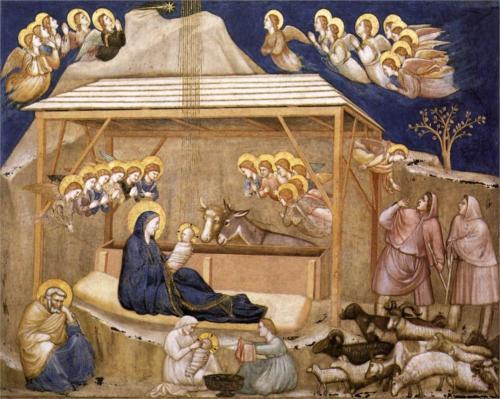 Giotto - Natividad (imagen de wikipaintings.org)