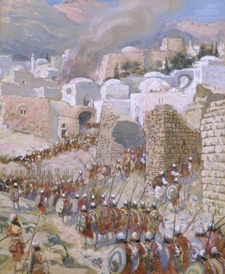 James Tissot - La toma de Jericó (imagen de wikipaintings.org)