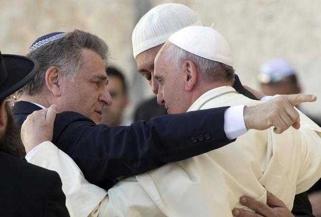 Resultado de imagen de papa francisco y judios