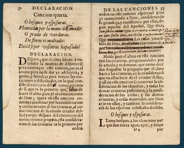 Antigua edición del tratado sobre los poemas del Cántico Espiritual