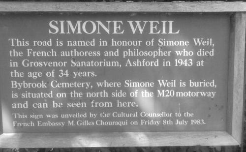 SimoneWeilA28Plaque