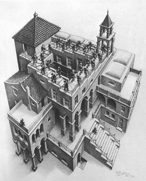 J.C. Escher - Ascendente y descendente