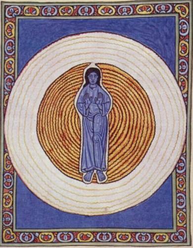 Hildegarda de Bingen - Scivias - La Trinidad (con Jesús al centro)