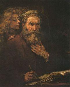 Rembrandt - San Mateo y el Ángel