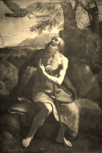 'St._Paul_the_Hermit_Fed_by_the_Raven',_after_Il_Guercino,_Dayton_Art_Institute