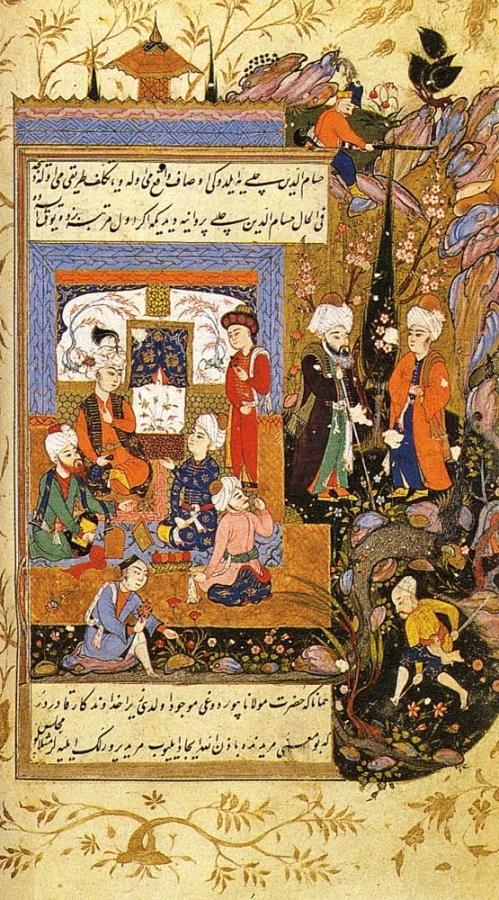 Encuentro de Rumi con místicos persas