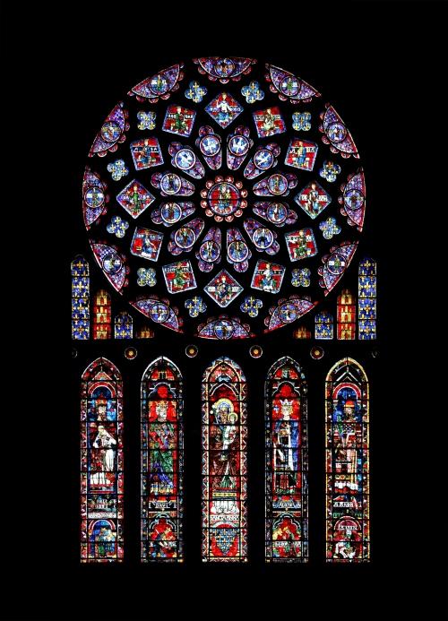 Catedral de Chartres, rosetón norte