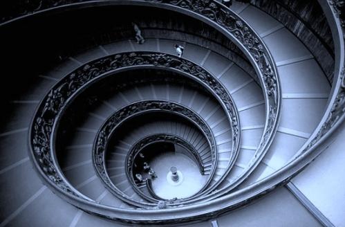 Escalera de acceso a los Museos Vaticanos