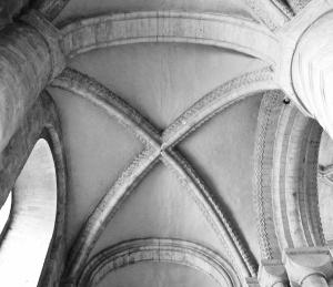 Detalle de la bóveda de la  catedral de Durham