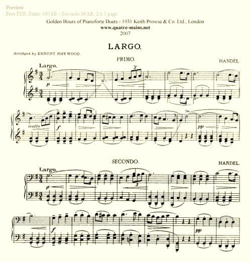 Handel - Largo (Xerxes) - Preview (2)