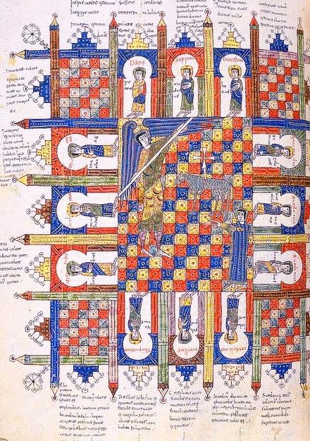 Jerusalén Celestial - Beato de Liébana, Apocalipsis de Silos, c.1100
