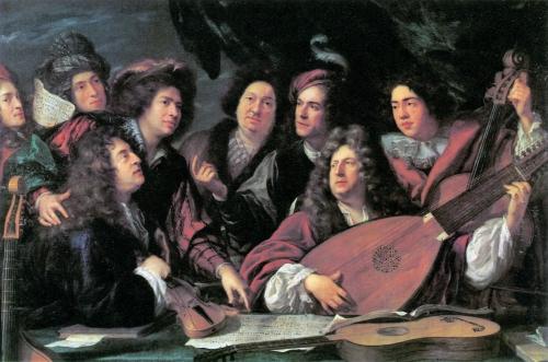 Francois Puget, Retrato de músicos y artistas,  1688