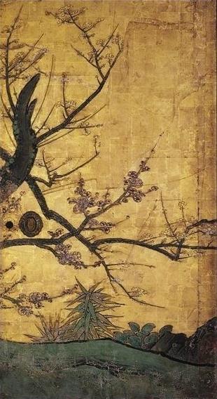 Prune_sur_paravent_par_Kanō_Sanraku (2)