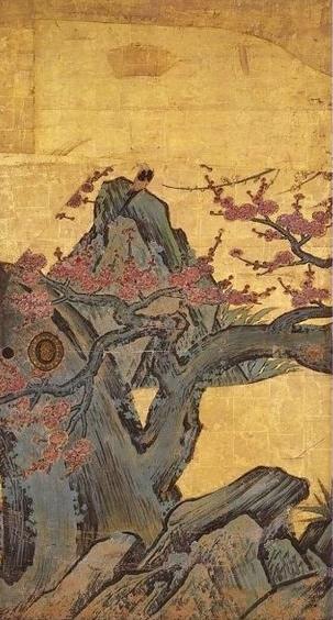 Prune_sur_paravent_par_Kanō_Sanraku (4)