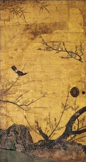 Prune_sur_paravent_par_Kanō_Sanraku (5)