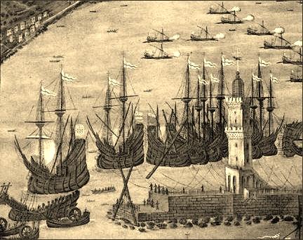 El puerto de Génova en 1481