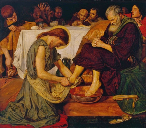 Ford Madox Brown (1821-1893) - Jesús lava los pies a Pedro