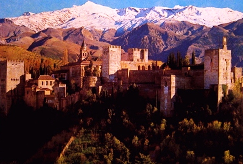 La Sierra Nevada y el palacio de La Alhambra
